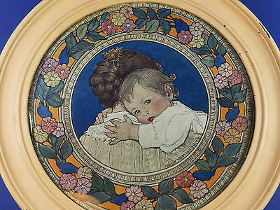 Jessie Willcox Smith ~ Beautiful Antique Print ~ Original Circular Frame ~ 1907