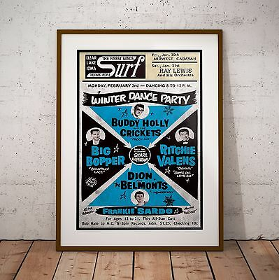 Buddy Holly 1959 Final Concert Poster Print NEW Exclusive The Day The Music Died