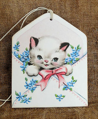 Hang Tags  ROYAL BLUE EYED BLACK KITTEN KITTY CAT TAGS or MAGNET #479  Gift Tags