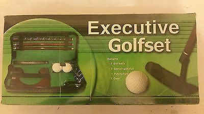 Golf Putting Game Executive set in Zip up case