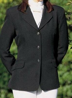 black show/dressage jacket fitted style size 12