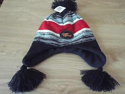New Boy's Navy Mix  Hat Fleece Lined One size (3 years)