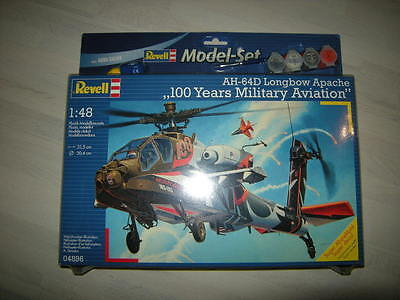 1:48 Revell AH-64D Longbow Apache 100 Years Military Aviation Nr. 04896 SET OVP