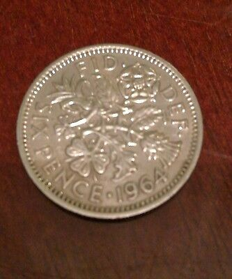 Six Pence 1964 british coin