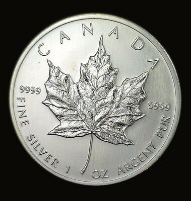 2006 Canadian Maple Leaf $5 1 oz .9999 Fine Silver Gem BU 001