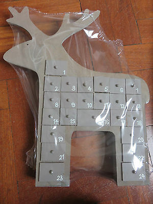Grey Reindeer Reusable Advent Calendar BNIB