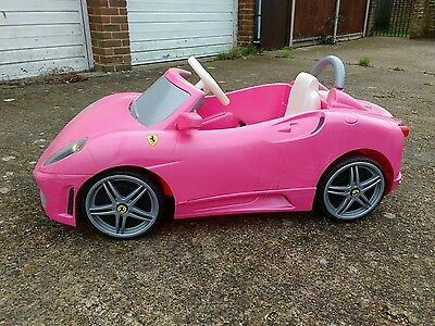 Pink Feber Ferrari F430 battery powered electric ride on  car. New battery.