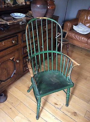 West Country Georgian Primative Windsor Armchair Stick Chair Comb Back