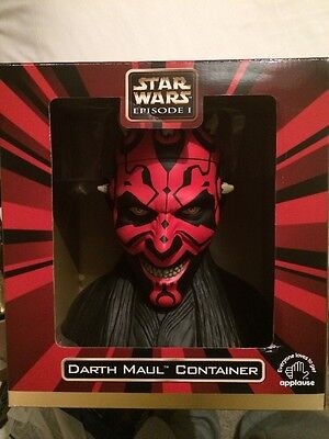 Star Wars Episode 1 Rare Darth Maul Container - New And Sealed