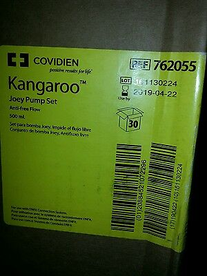 30 Covidien Kanagroo Joey Pump Feeding Bags - 500ml.