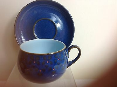 Denby Midnight Tea Cup & Saucer Discountinued