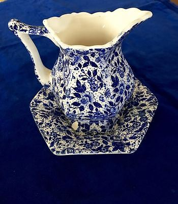 Blue And White Jug And Saucer