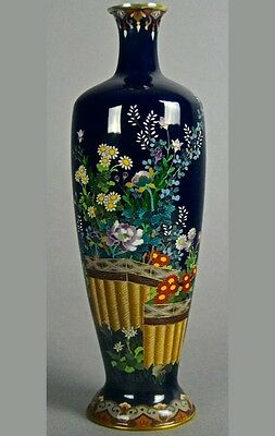 Japanese Cloisonne Fine and Meticulous Meiji Vase