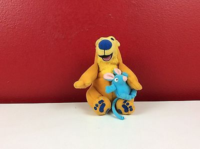 """Bear in the Big Blue House 5"""" Plush with Tutter 1999"""