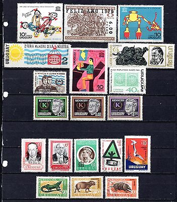 Uruguay nice used collection,stamps as per scan(2353)