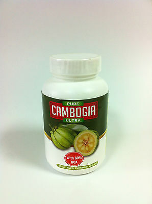 New - Pure Cambogia Ultra with 60% HCA - Dietary Supplement - 60 Capsules