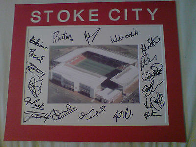 STOKE CITY Signed Players Team Mount