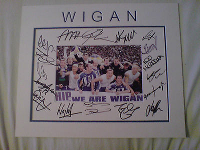 WIGAN ATHLETIC Signed Promotion 2005 Players Team Mount