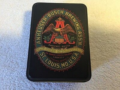 Anheuser Busch Brewing Budweiser Beer Playing Card Collectible (Tin Only)