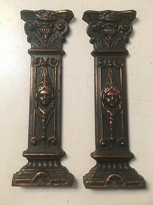 Pair Of Egyptian Revival Column Decorations From Seth Thomas Adamantine