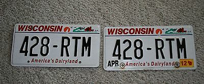 (2) Wisconsin License Plate With Red Barn, Birds % Sailboat