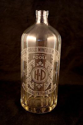 Hants & Dorset Etched Mineral Water Bottle From London