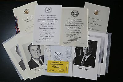 AUTHENTIC Ronald Reagan Inauguration Invitations 1981 and 1985 - DELUXE SET
