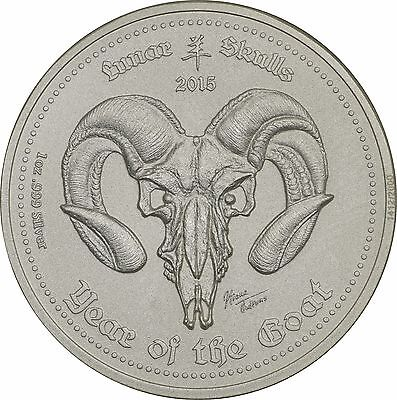 2015 Republic of Ghana 5 Cedis, Year of the Goat Silver 1 oz Round