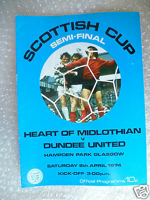 1974 Scottish Cup Semi FINAL - HEART OF MIDLOTHIAN v DUNDEE UNITED, 6th April