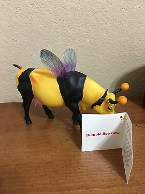 Cows on Parade Bumble Bee Cow Retired Figurine Houston