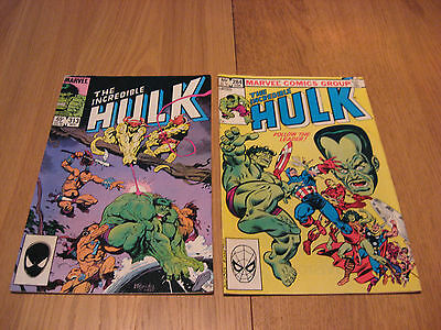 The Incredible Hulk (2 Issues) #284 #313 dd.1983-1985  - USA