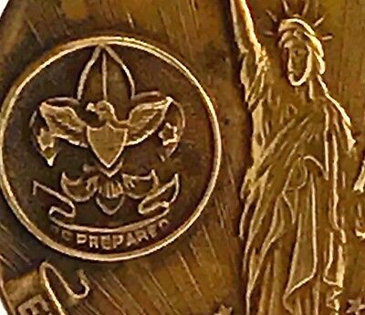 Vintage Boy Scout WWI War Service Medal Statue Of Liberty Loan Gorham Token Coin