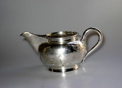 Antique Hand Made Wai Kee Chinese Export Silver Dragon Chasing Pearl Creamer