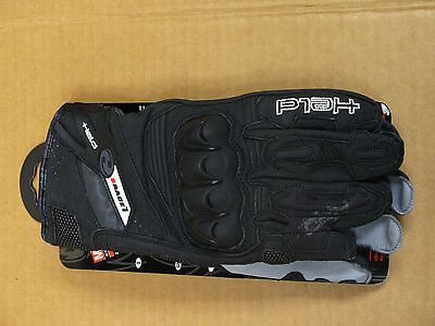 Held Short Race 1 Motorcycle Gloves Size 8 Black Leather USA Seller BRAND NEW
