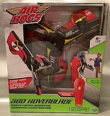 Air Hogs 360 HOVERBLADE Remote Control Boomerang ~ Red Color - Spring Fun! NEW
