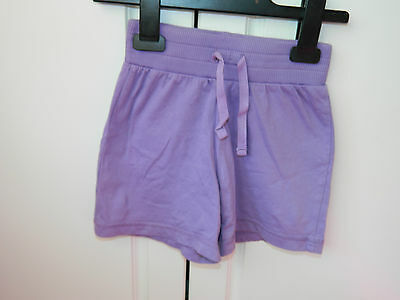 Purple Cotton Girl's Shorts. Age 6 years.