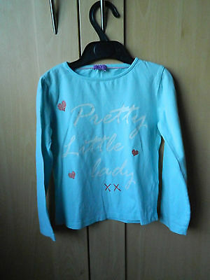 Light blue long sleeved t-shirt. F&F. Age 4-5 years