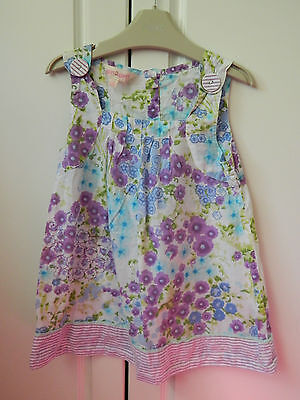 Lilac Floral Tunic Top age 5-6 years