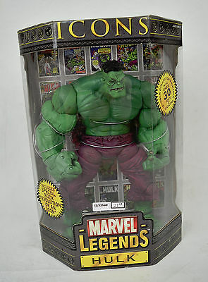 """Marvel Legends Icons Incredible Hulk Action Figure 2006 New 12"""" Avengers"""