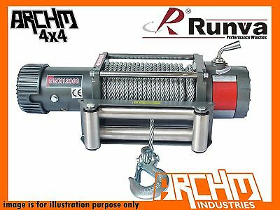 Runva Ewx 12000Lb 12V With Steel Cable Electric Recovery Winch
