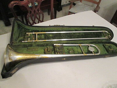 Trombone--C.G.Conn--Gold & Silver plated--Vintage