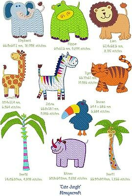 CUTE JUNGLE for MACHINE EMBROIDERY DESIGN, FAST EMAIL & Free