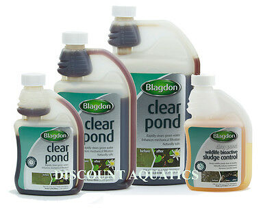 Blagdon Clear Pond Filter Aid Clears Cloudy Water Sludge Control-250-500-1000ml