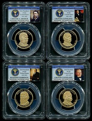 2012 S Presidential Dollar 4 Coin Proof Set PCGS PR69 DCAM New Holders!