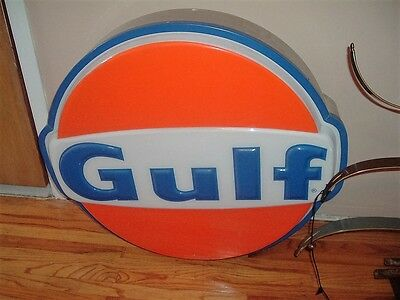 gulf lighted gas station sign excellent condition works