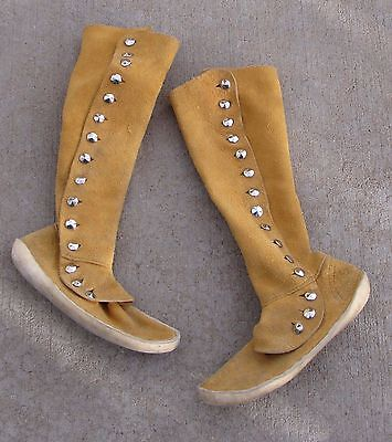 Vtg Kaibab Moccasin Tuscon Leather Hightop Native Indian Style Rendzvous Boots