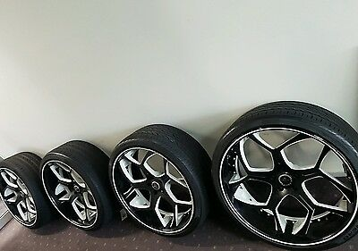 24inch forged wheels and tyres bmw x5 x6 and commodore hsv