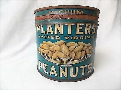 Vintage 1938 Planters Peanuts 1 Lb. Can Mr. Peanuts Playing Cards