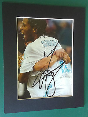 Didier Drogba - Ivory Coast, Chelsea, Marseille  Signed-Auto Mounted Picture