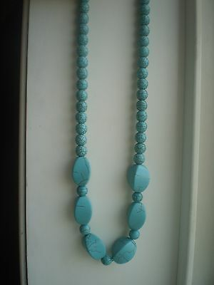 Handcrafted  Turquoise Magnesite Beaded Necklace